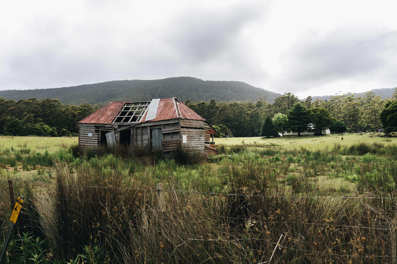 Abandoned farmhouses on Bruny Island